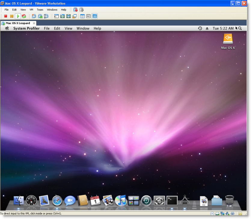 working Mac OS X 10.5 Leopard in VMware