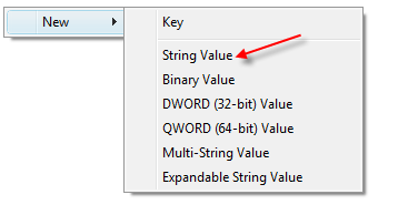 New registry key