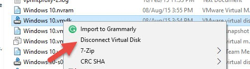 Disconnect Disk