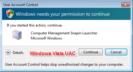UAC in Windows 7
