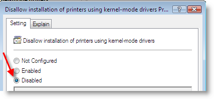 Printer driver not compatible vista