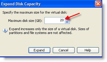 Expand VM Disk in VMware Workstation