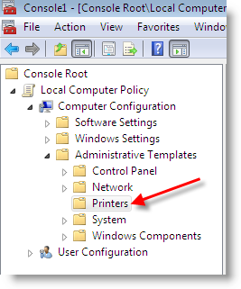 Computer Use Policy Template NT 4 0 Printer Driver Is Not Compatible With A Policy Enabled In Vista PC