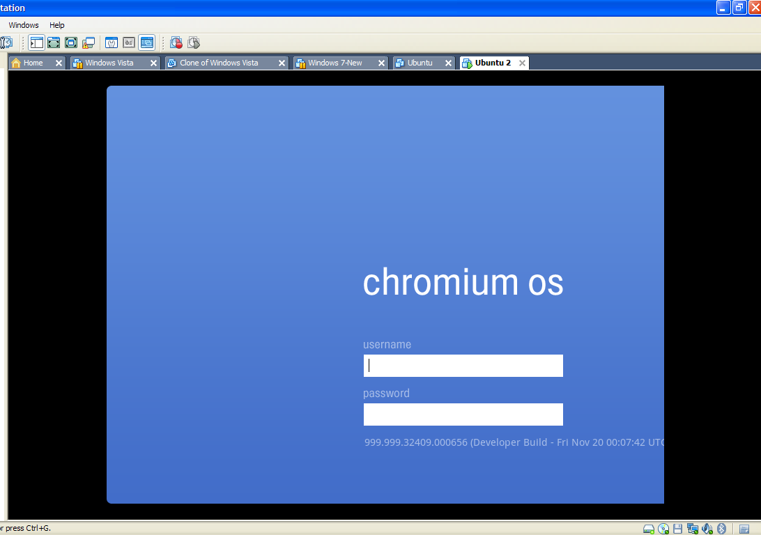 Install Chrome OS Vmware