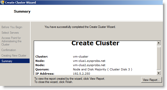 Cluster name