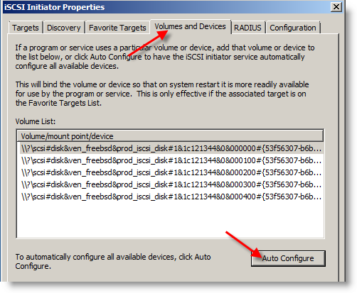 Volume and devices for MS cluster in VMware
