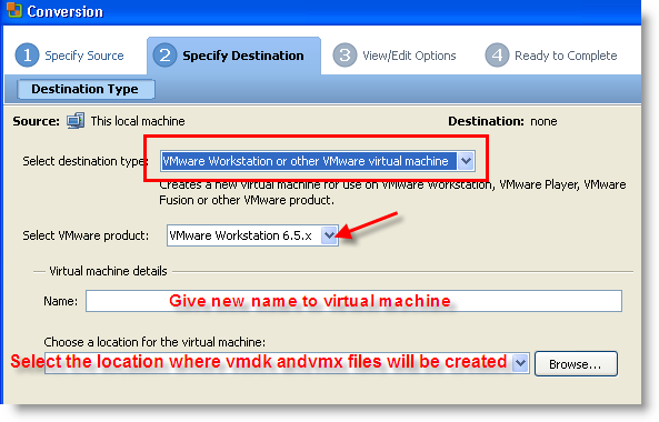 how to create virtual machine from physical machine