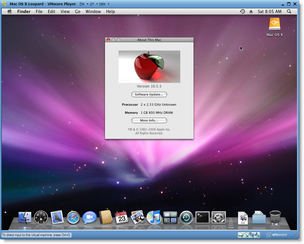 How install mac osx in vmware windows md nazir for Innenarchitektur mac os x