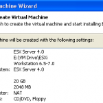 VMware vSphere 4 ( ESXi 4) on Windows 7 PC by VMware Workstation 7