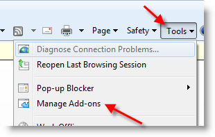 Manage Addons in Windows