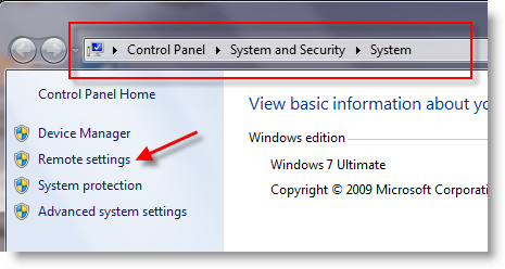 Can't Connect Remote Desktop Windows 7