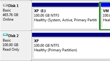 Attached VHD file as partition