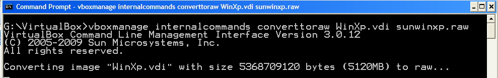Convert VDI to VMDK & Open Sun VirtualBox Virtual Machine in VMware Player & Workstation