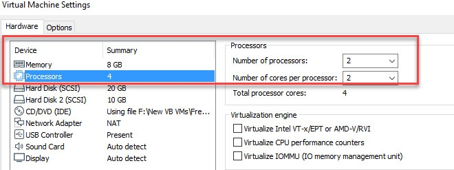 Increase Processor Core