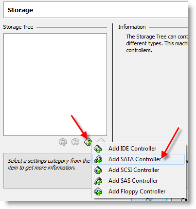 SATA Hard Disk VirtualBox