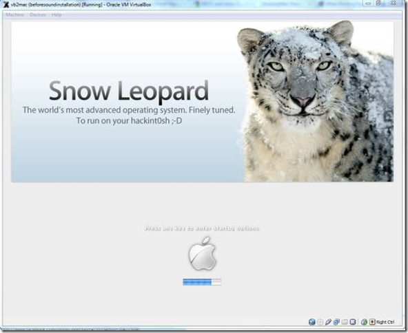 install Mac Snow Leopard 10.6.3 in Oracle VirtualBox 3.2