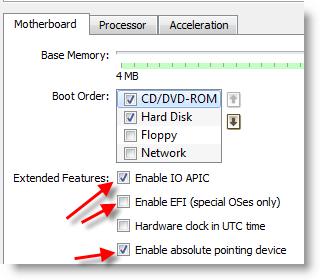 Enable Processor Settings
