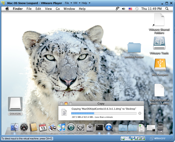 Working Snow Leopard in VMware Player