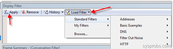 Loading filters to monitor network in Windows 10