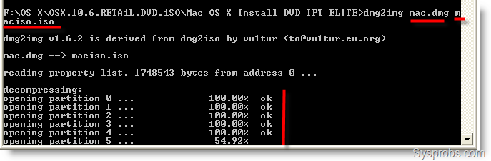 Convert Mac dmg to iso in Windows