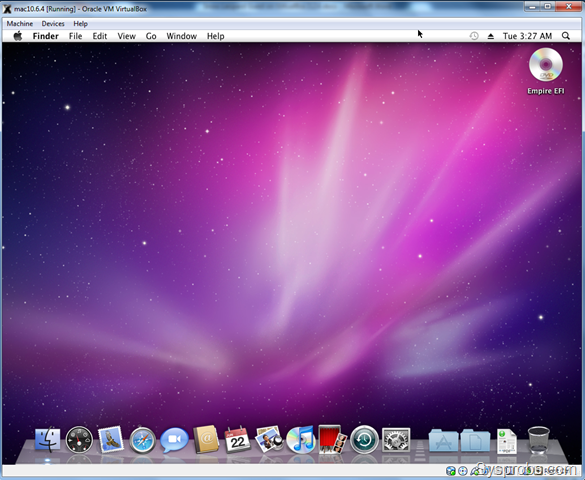 Mac OS X Guest Snow Leopard 10.6.4 on PC with VirtualBox 3.2.6