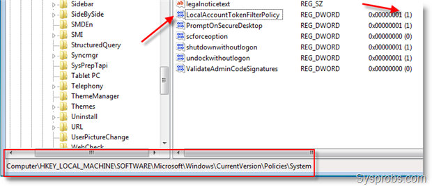 Administrative Shares Not Working in Windows 7