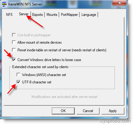 Configure and Set up NFS Share on Windows 7