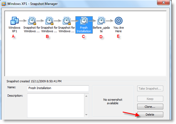 How to Merge Snapshots in VMware Workstation 7