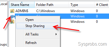 How to Disable Administrative Shares in Windows 7