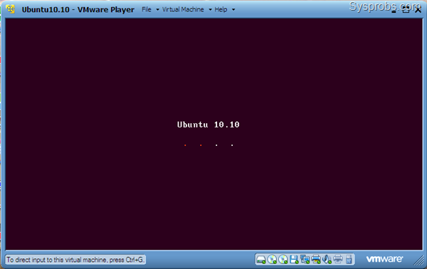 Ubuntu 10.10 on VMware player 3.1