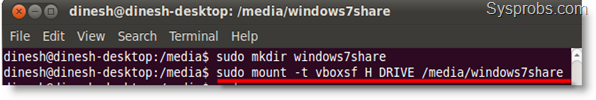 VirtualBox Shared Folders in Ubuntu 10.10 Guest