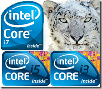 Snow Leopard on Intel i3,i5 i7 processors