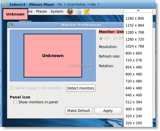 Fedora 14 on VMware
