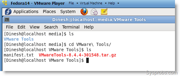 VMware Tools on Fedora 14