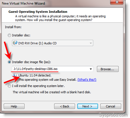ubuntu11.04 with easy install in VMware