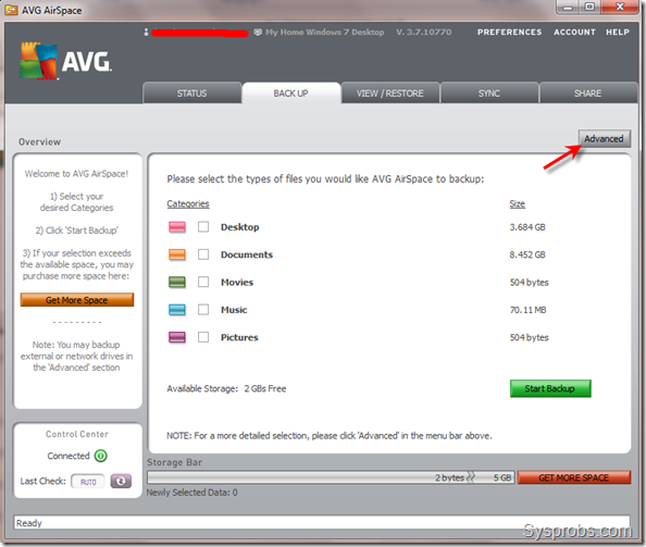 AVG AirSpace in Windows 7