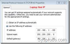 laptop host ip