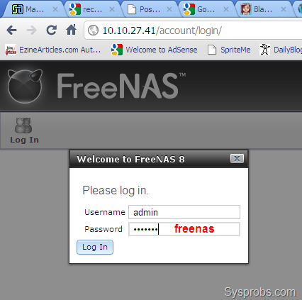how to change password freenas