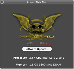 10.6.7 hazard on virtualbox