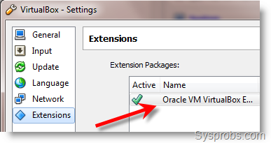 oracle virtualbox extension pack