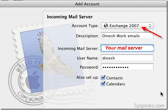 Connect Exchange 2007 in Lion Mail Client