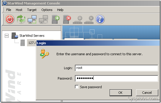 right click and type password