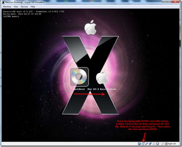 lion boot loader for virtualbox