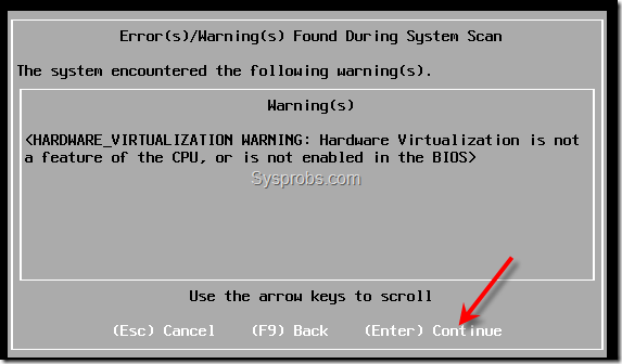 vt error during esxi 5 installation