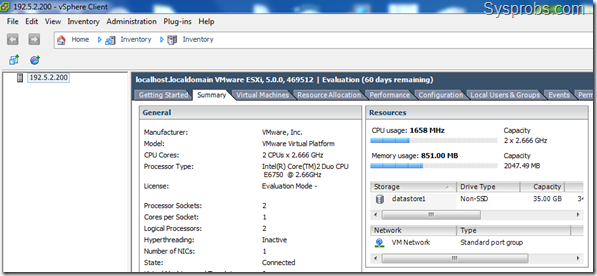 working vsphere 5 in windows 7