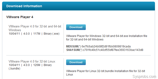 vmware player 4 linux