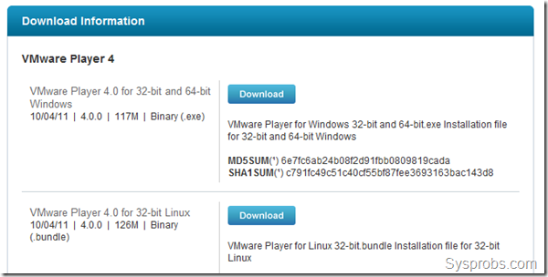 vmware player 4.0 download