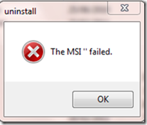 The msi failed error