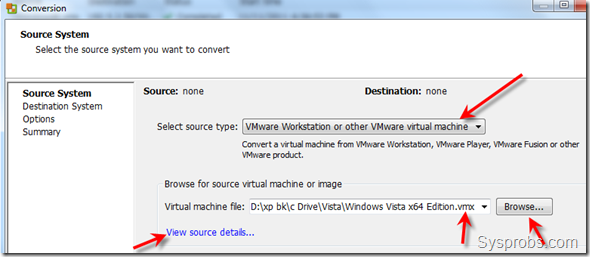 browse and view details of vm