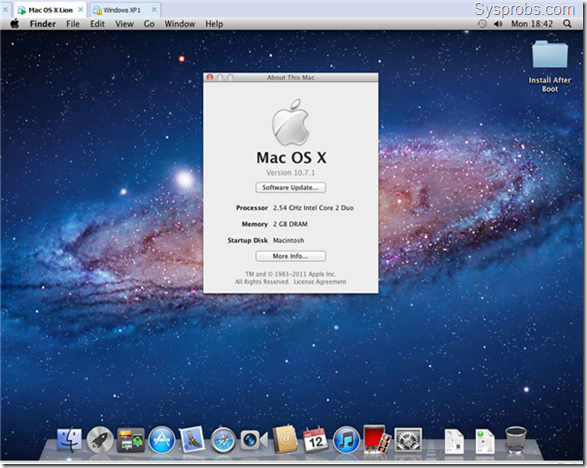 working lion os x